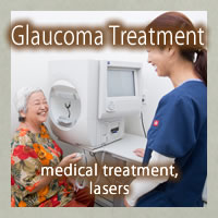Glaucoma Treatment (medical treatment, lasers)